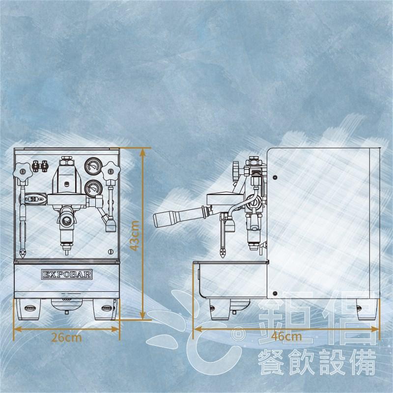 CMH-EO1/商用半自動咖啡機-單口/雙鍋爐半自動咖啡機/義式咖啡機/玩家級咖啡機/商用咖啡機/居家用咖啡機/EXPOBAR OFFICE/E61/Espresso Coffee Machine