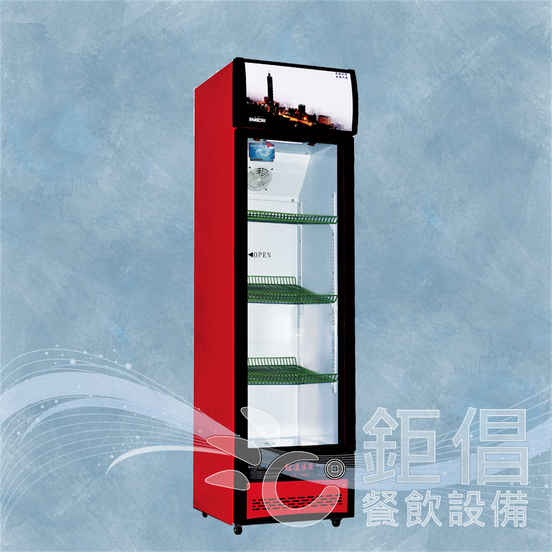 小紅冰箱/單門展示冰箱/單門玻璃冰箱/立式展示冰箱/300L展示冰箱/400L展示冰箱/玻璃冰箱/GK-1900/紅運冰箱/UPRIGHT SHOW CASE