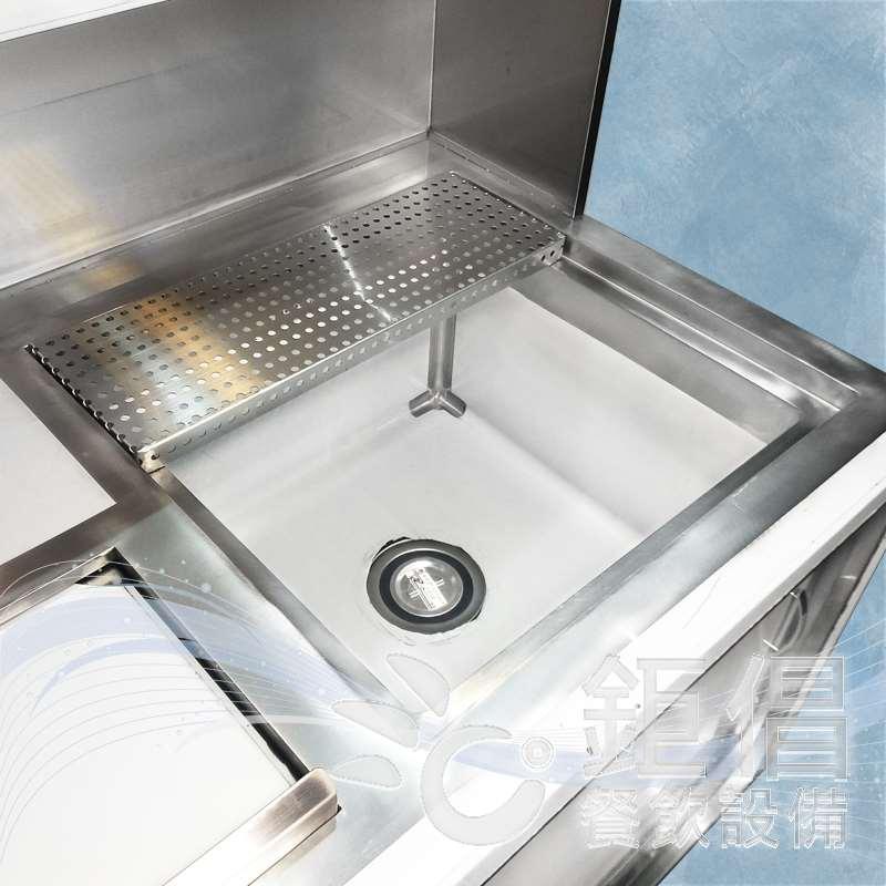 ODM-WD181220/客製化飲料吧檯/飲料工作台/手工洗槽水吧檯/瀝水洗槽水吧台/儲冰槽水吧台/五尺水吧台/保溫茶桶上架/訂製不銹鋼餐飲設備